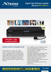 Strong SRT 7300 CI+ STR7300CI Leaflet