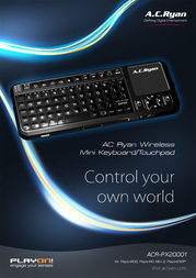 AC Ryan Wireless Mini Keyboard/Touchpad ACR-PX20001 Leaflet