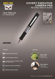 Night Owl Optics Digital Camera Executive Pen Camera User Manual