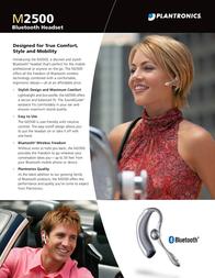 Plantronics Headset bluetooth M2500 M2500 Leaflet