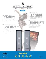 Altec Lansing laptop speaker XT1 system XT-1 Leaflet