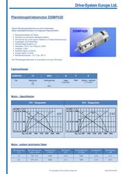 Drive System Europe 24V DC Planetary Gear Motor 1445RPM 0.18NM DSMP420-24-4-B-F Data Sheet