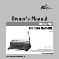 Royal Sovereign RBM-1200 User Manual