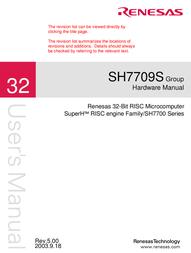 Renesas Stereo System SH7709S User Manual