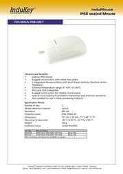 InduKey TKH-MAUS-IP68-GREY-OPT-USB KH01221 Leaflet