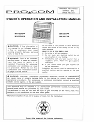 Procom MN300TPA User Manual