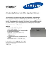 Samsung WE357A0P Leaflet