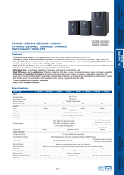 OPTI-UPS DS1000E Leaflet