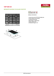 Mora VDP 645 GX VDP645GX Leaflet