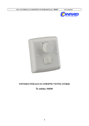 Westinghouse Wall Switch for Ceiling Fan and Light 78801 78801 Data Sheet