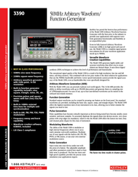 Keithley 3390 Function Generator, Frequency Generator 3390 Data Sheet