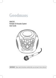 Goodmans XB6CDG 사용자 설명서