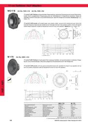 Visaton VS-WS17E/4 1054 Data Sheet