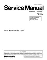Matsushita CF-W4HWEZZBM User Manual