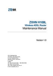 ZTE ZXHN H108L Maintenance Manual