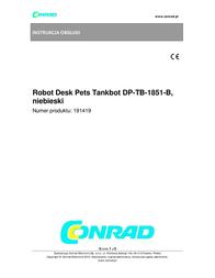 Desk Pets DP-TB-1851-B Tankbot Blue Toy Robot DP-TB-1851-B Data Sheet