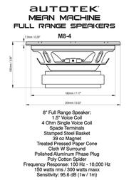 Autotek M8-4 Leaflet