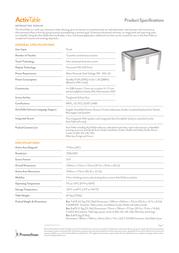 Promethean ActivTable ACTIVTABLE Leaflet
