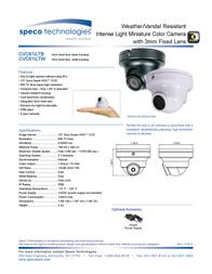 Speco Technologies CVC61ILTB Leaflet