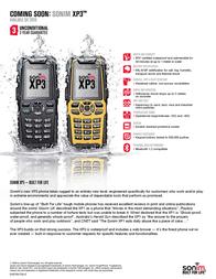 Sonim XP3 BNL XP32282 Leaflet