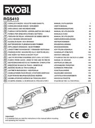 Ryobi RGS410 5133000678 Data Sheet