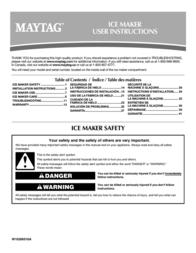 Maytag W10206488A User Manual