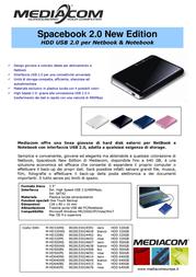 Mediacom SpaceBook 2.0 500GB M-HD500WS Leaflet