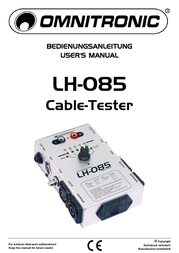 Omnitronic LH-085 Cable tester 10355085 Data Sheet