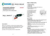 Liqui Moly Automatic charger Batterieladegerät 6/12V 4A 16612 Data Sheet