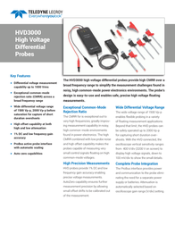 Lecroy Differential probe 120 MHz HVD3106 HVD3106 Data Sheet