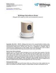 Withings Home WBP02 User Manual
