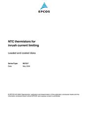 Epcos N/A B57237-S220-M R 25 22 Ω S237/22 B57237-S220-M Data Sheet