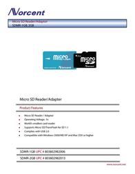 Norcent Micro SD Reader/Adaptor SDMR-1GB Листовка