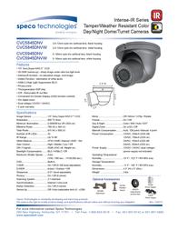 Speco Technologies CVC5845DNV Leaflet