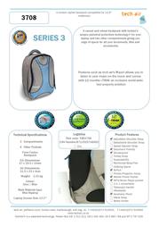 """Tech air 13.3"""" Backpack TAR3708 Leaflet"""