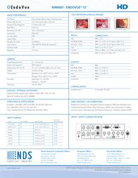NDS Surgical Imaging EndoVue 15'' 90R0007 Leaflet