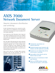 Axis 7000 Network Document Server 0094-012-03 Leaflet