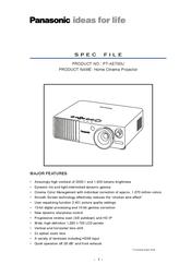 Panasonic PT-AE-700 PTAE700 User Manual