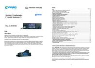 Pocket Comm Conrad Roadcom-FS CV Mobile CB Mobile Radio Set 930486 Data Sheet