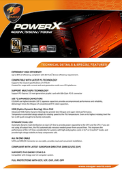 Cougar POWERX 700W COUGAR X700/R User Manual