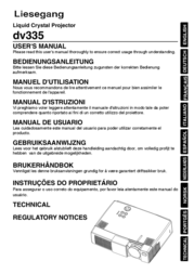Liesegang Liquid Crystal Projector dv335 User Manual