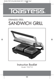 Toastess Stainless Steel Sandwich Grill TSG710 User Manual