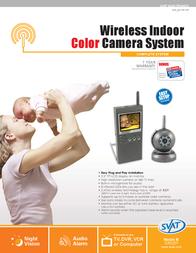 Svat Wireless Portable Video Baby Monitor GX5201 Leaflet