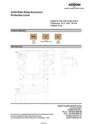 Kudom Cover Kpc-0A For Relay Ssr KPC-0A Data Sheet