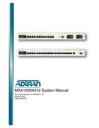Adtran MX410 User Manual