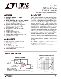 Linear Technology LT1468CS8 Linear IC SO8 70MHz 16-Bit Accurate OA LT1468CS8 Data Sheet