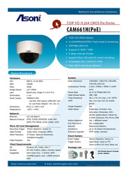 Asoni CAM661H-POE Leaflet