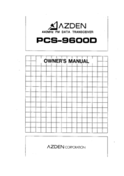 Azden Barcode Reader PCS-9600D User Manual