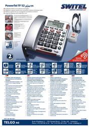 SWITEL PowerTel TF 52 POWERTEL TF 52 Leaflet