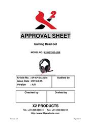 X2 SolarBlast X2-HS7502-USB User Manual